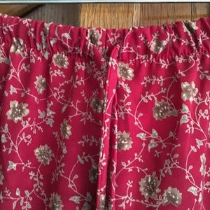 Coldwater Creek Pants pxl red and tan